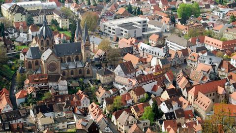 Blick auf die Heppenheimer Altstadt.