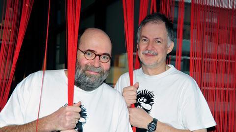 Die Pfarrer-Kabarettisten Hans Greifensatein (links) und Clajo Herrmann.