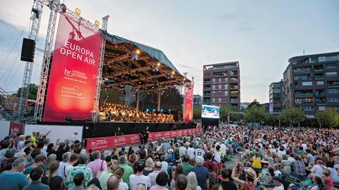 Impression vom Europa Open Air des hr-Sinfonieorchesters.
