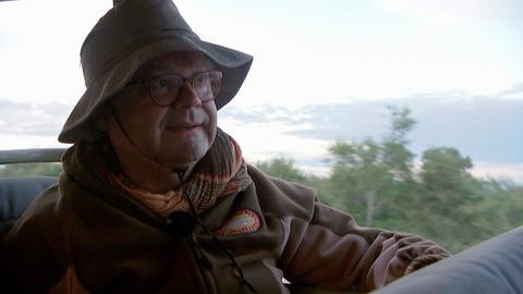 Dr. Martin Lücke auf dem Weg in den Etosha-Nationalpark.