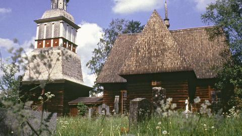 Außenansicht der Kirche von Petäjävesi.