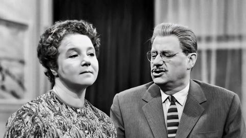 Wolf Schmidt und Liesel Christ als Herr und Frau Hesselbach.