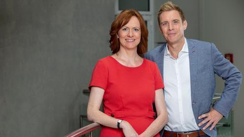 Die Moderatoren: Ute Wellstein und Jens Kölker