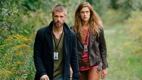 Lars Haaland (Nicolai Cleve Broch) und seine Kollegin Alfhildr (Krista Kosonen) ermitteln in einem Mordfall.