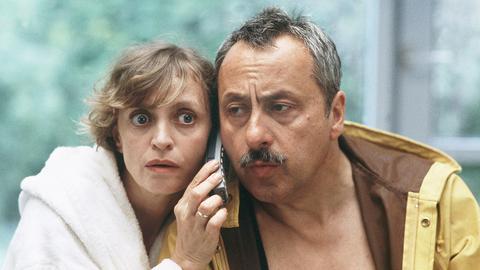 Was ein Ministerpräsident so alles tun muss: Erwin (Wolfgang Stumph) und Erika Strunz (Katharina Thalbach) staunen.