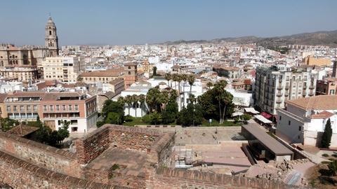 Blick auf Málaga; links im Bild die Kathedrale.