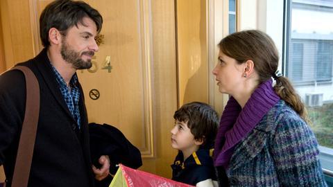 Eine sympathische Patchwork-Familie: Lina (Julia Brendler), Markus (Stephan Luca) und dessen Sohn Tim (Jannis Michel).