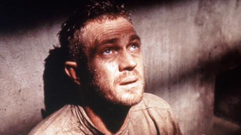 Nach einem gescheiterten Fluchtversuch schmachtet Henri Charrière alias Papillon (Steve McQueen) jahrelang in finsterer Einzelhaft.