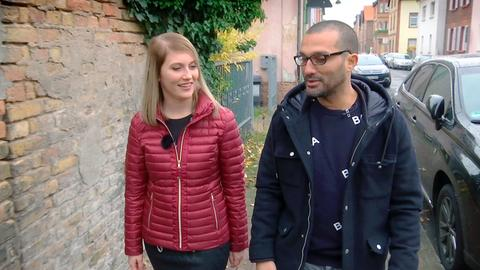 Die Schlagersängerin Marilena Kirchner aus Tann in der Rhön und der Rapper Hassan Annouri aus Frankfurt.