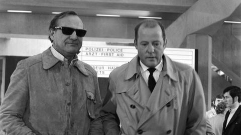 Siegfried Wischnewski (links) als Frank Kross und Joost Siedhoff als Paul Rimbach.