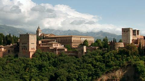 Granada: Blick auf Alhambra.