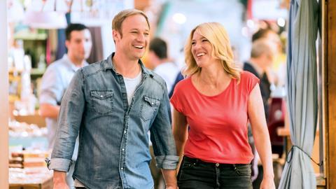 """Die hr3-Moderatoren Tanja Rösner und Tobias Kämmerer liefern sich ein """"Küchenduell""""."""
