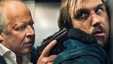 Kommissar Klaus Borowski (Axel Milberg, li.) mit Serienkiller Kai Korthals (Lars Eidinger, re.).