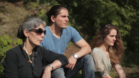 (v.l.n.r.) Fabienne Wauthier mit Sohn Alexander und Tochter Laura.