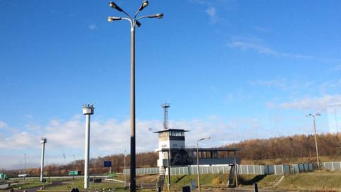 Der Grenzübergang Marienborn.