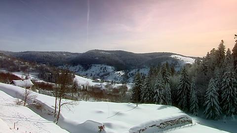 Winterstimmung in den Vogesen.