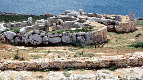 Die Tempel von Mnajdra auf Malta.