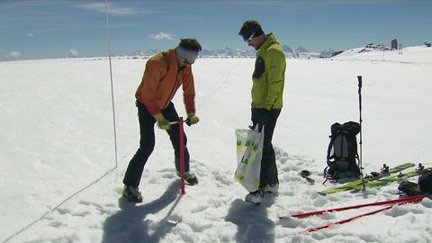 Gletschermessung Frühling 2018 - Euphorie über die großen Schneemengen.