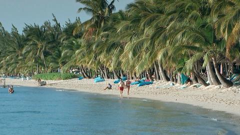 Am Strand von Le Morne.