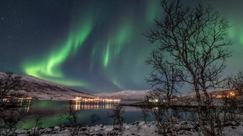 Winterzauber am Polarkreis: Nordlichter über Norwegens Arktis. Sie ziehen immer mehr Reisende aus aller Welt an.