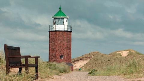 Leuchtturm Rotes Kliff auf Sylt.