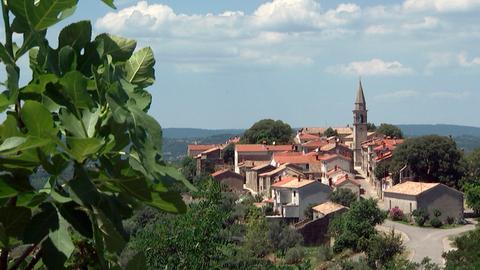 Dorf im Hinterland von Istrien.