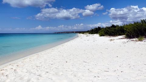 Blick auf die Bahía de las Águilas in der Dominikanischen Republik.
