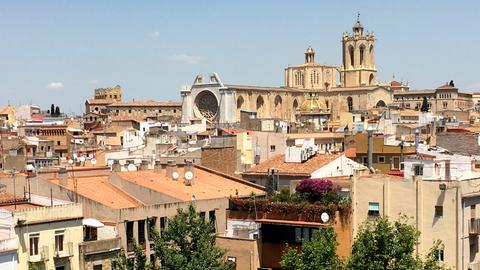 Blick auf Tarragona; im Hintergrund die Kathdrale.