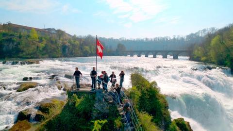 Der Rheinfall bei Schaffhausen.