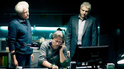 Von links: Kriminalhauptkommissar Ivo Batic (Miroslav Nemec), Carlo Menzinger (Michael Fitz) und Kriminalhauptkommissar Franz Leitmayr (Udo Wachtveitl).