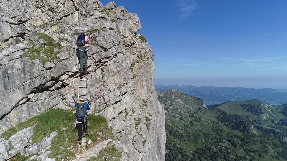 Klettersteig Hessen : Bildergalerie der hindelanger klettersteig hr fernsehen tv