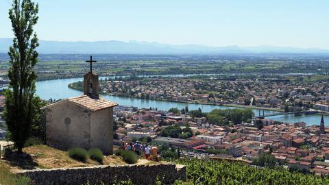 Rhône-Tal bei Tain Hermitage.
