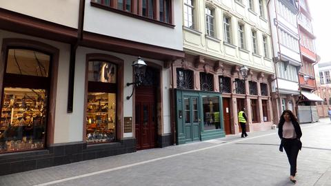 In der neuen Frankfurter Altstadt.