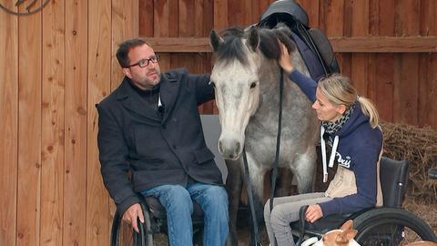 """Der """"Pferdeflüsterer"""" Timo Ameruoso mit Steffi Völker."""