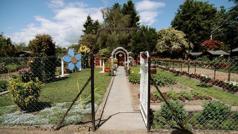 Blick auf Peter Richters Garten.
