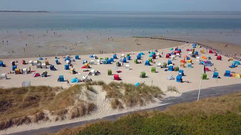 Strand auf der Insel Föhr.