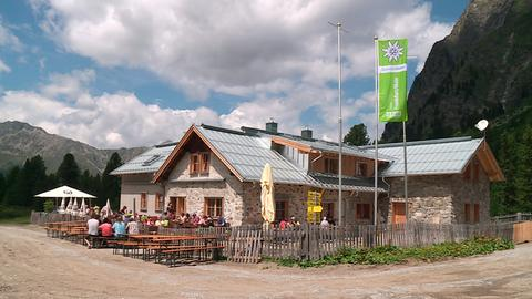 Frankfurter Verpeilhütte im Verpeiltal.