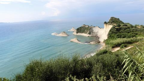 Blick auf das Kap Drastis, den nordwestlichsten Punkt der Insel Korfu.