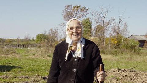 Dorfbewohnerin von Kurakino im Gebiet Vologda.
