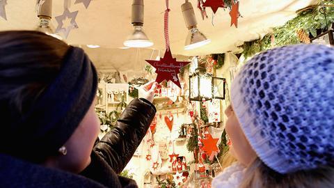 Auf dem Nürnberger Christkindlesmarkt.