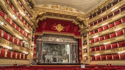 Zuschauerraum der Mailänder Scala.