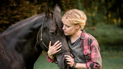 Alexandra mit Pferd