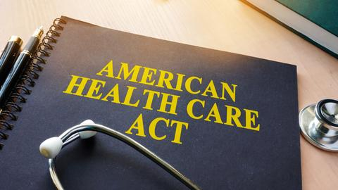 American health care act mit Stethoskop