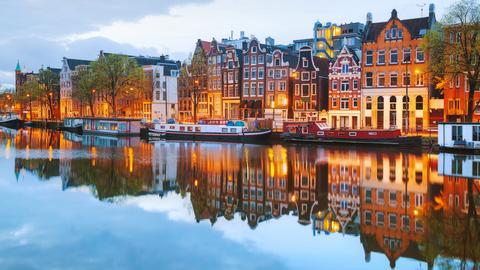 Blick auf Amsterdam.