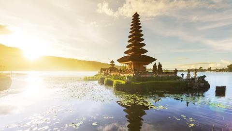 """Der Bali Tempel """"Pura Ulun Danu Bratan""""."""