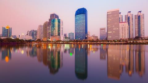 Blick auf die Skyline von Bangkok.