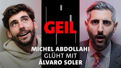 Michel Abdollahi und Álvaro Soler auf der ARD Bühne der Frankfurter Buchmesse 2021. Text: Michel Abdollahi glüht mit Álvaro Soler.