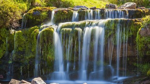 Wasserfall im Brecon Beacons Nationalpark.