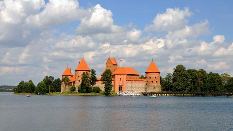 Wasserburg Trakai in Litauen.