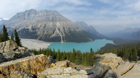 Peyto Lake and the Canadian Rockies